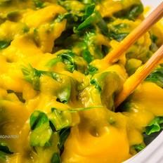 南瓜汁扒豆苗的做法