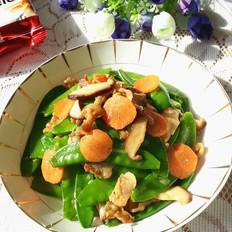 荷兰豆香菇炒五花肉