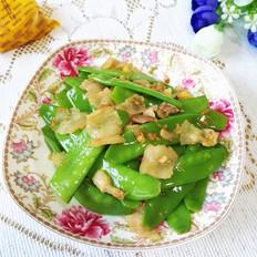 荷兰豆炒五花肉