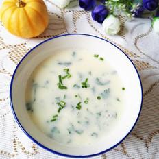 豆浆萝卜叶汤