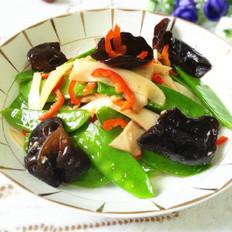 杏鲍茹炒荷兰豆