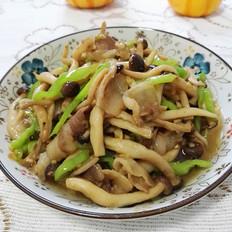 五花肉炒鲜蘑