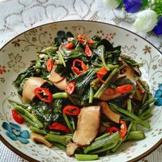 香菇空心菜