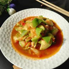 西红柿青椒炒西葫芦