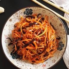 胡萝卜炒五花肉的做法大全