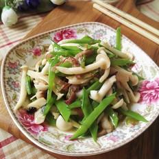 白玉菇荷兰豆炒五花肉