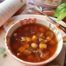 红薯花生桃胶汤