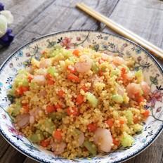 虾仁小米炒饭