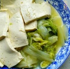 东北白菜炖豆腐