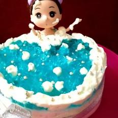 娃娃洗澡酸奶慕斯蛋糕