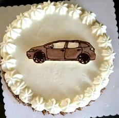 奶油霜转印汽车蛋糕