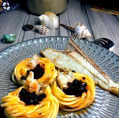 香辣豆豉鱼肉拌面