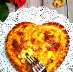 鲜虾浪漫心形披萨