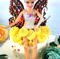 芭比蝴蝶仙子生日蛋糕