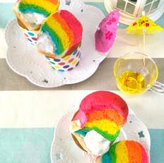 爆浆彩虹面包