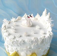 翻糖天鹅湖蛋糕
