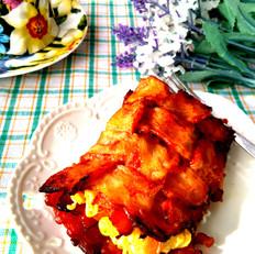 培根鸡蛋夹饼