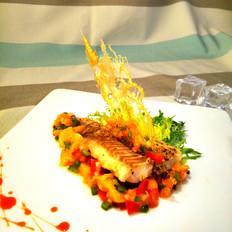 芒果莎莎酱烤鳕鱼