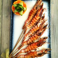 海盐黑胡椒烤虾