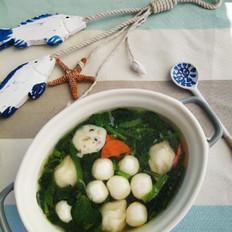 家常菠菜鱼丸汤