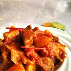 番茄山药炖牛肉