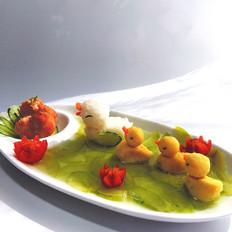 小鸭子蔬菜汤饭