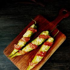 培根尖椒焗土豆泥
