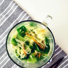 金针菇青菜汤