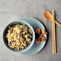 炸鸡青菜蛋炒饭