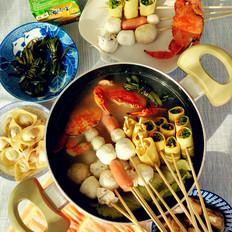 鸡汤海鲜火锅
