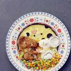 卡通早餐蛋包饭