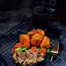 牛丼炸虾双拼饭