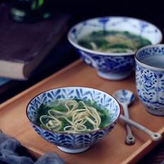 小白菜豆腐皮汤