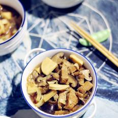 香菇冬笋炖五花肉