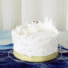 天鹅湖翻糖蛋糕