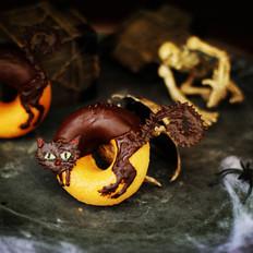 万圣节黑猫甜甜圈