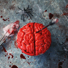 万圣节仿真大脑蛋糕