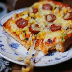 香肠吐司披萨