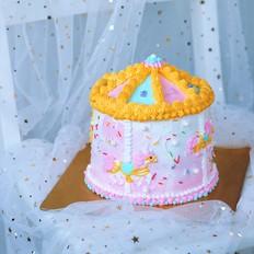 旋转木马奶油蛋糕的做法