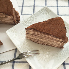 黑巧克力千层蛋糕