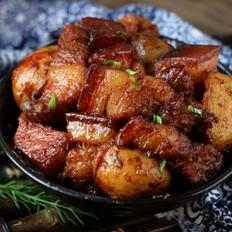 小土豆炖红烧肉