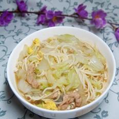 大白菜炝锅面条
