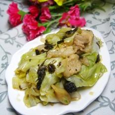 橄榄菜炒手撕包菜