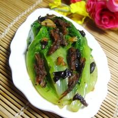 豆豉鲮鱼炒生菜