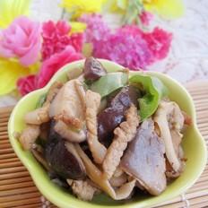 尖椒炒双菇