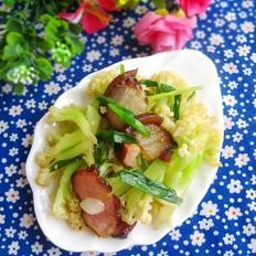 湖南腊肉炒菜花