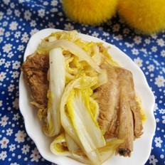 排骨焖炒白菜