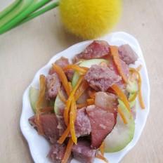 腊味炒紫薯馒头