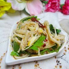 香菜拌金针菇