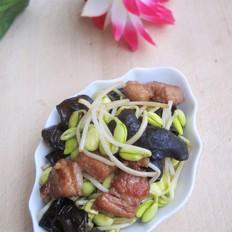 木耳炒黄豆芽